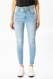 KanCan Two Button Denim - Front cropped