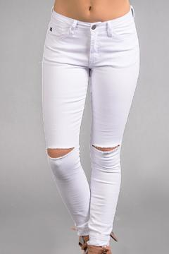Shoptiques Product: White Distressed Jeans