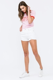 KanCan White High-Rise Shorts - Front full body