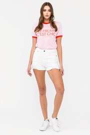 KanCan White High-Rise Shorts - Front cropped