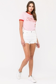 KanCan White High-Rise Shorts - Side cropped