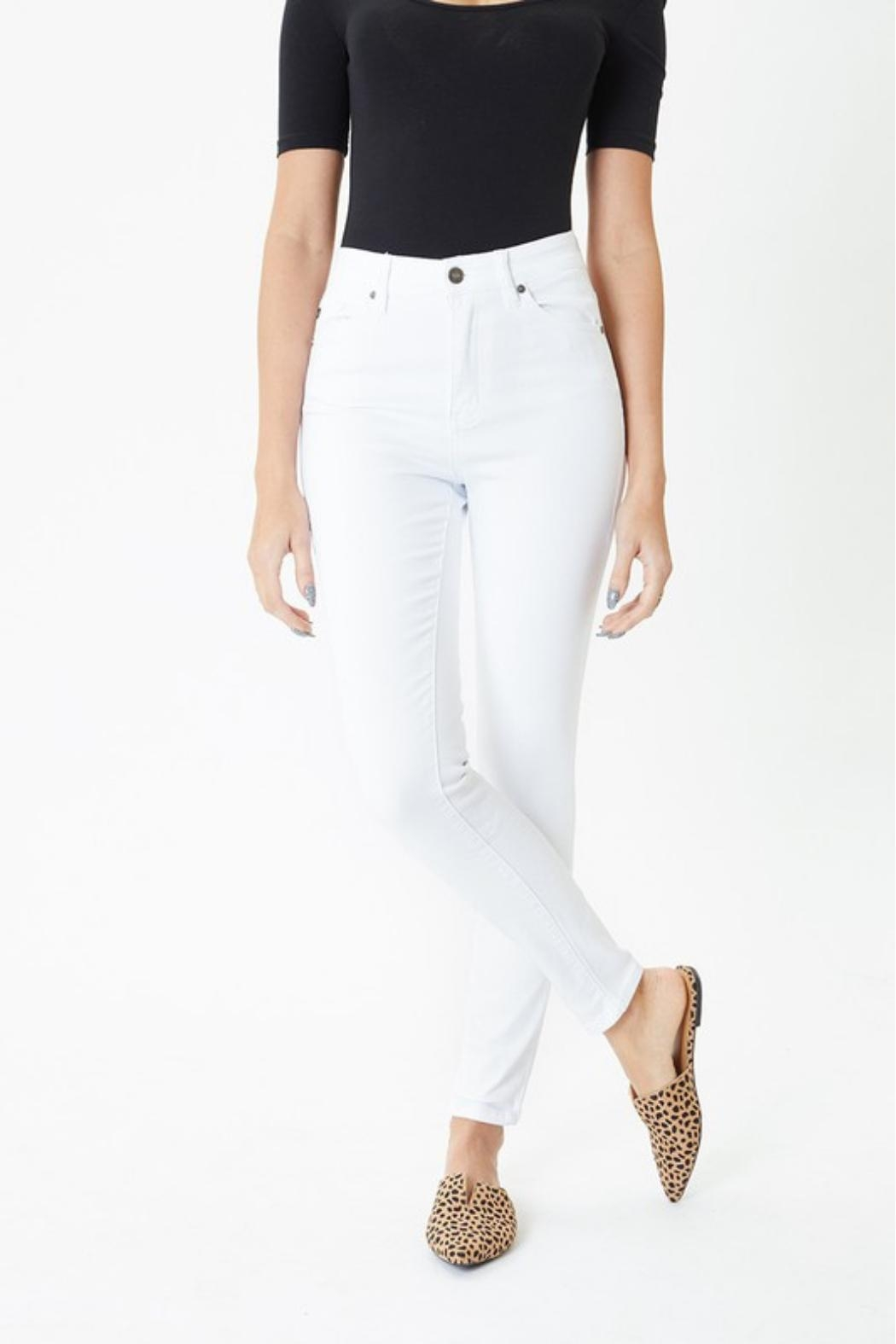 KanCan White Skinny Jeans - Side Cropped Image