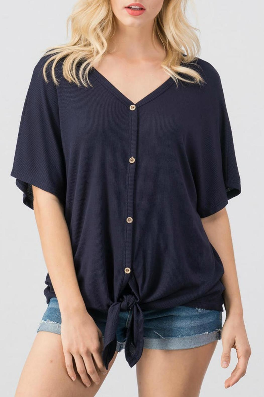 Trend:notes Kandace Waffle Top - Main Image