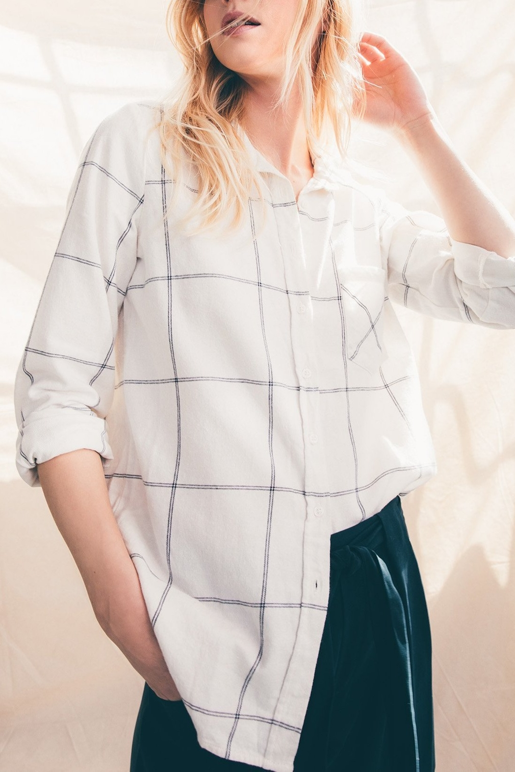 rag poets Kane Button-Down Shirt - Side Cropped Image
