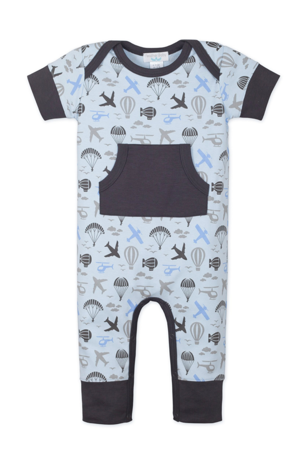 Feather Baby Kangaroo Romper - Front Cropped Image