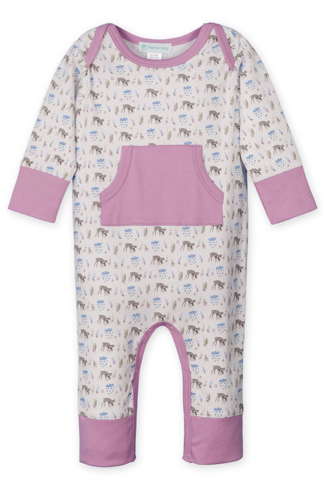 Feather Baby Kangaroo Romper - Main Image