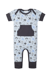 Feather Baby Kangaroo Romper - Front cropped