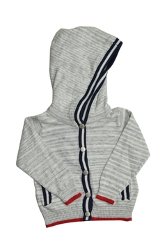 Shoptiques Product: Grey Hooded Sweatshirt