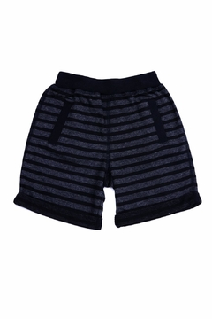 Kapital K Black Stripe Shorts - Alternate List Image