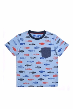 Kapital K Blue Fish Tee - Alternate List Image