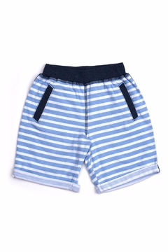 Shoptiques Product: Blue Stripe Shorts