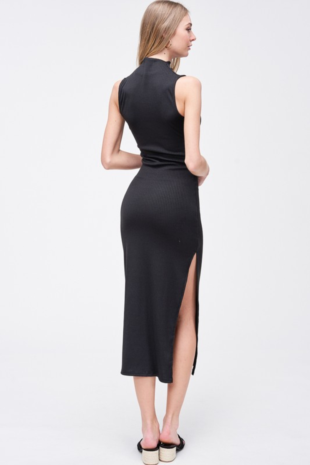 R+D  Kara Mock Neck Maxi - Back Cropped Image