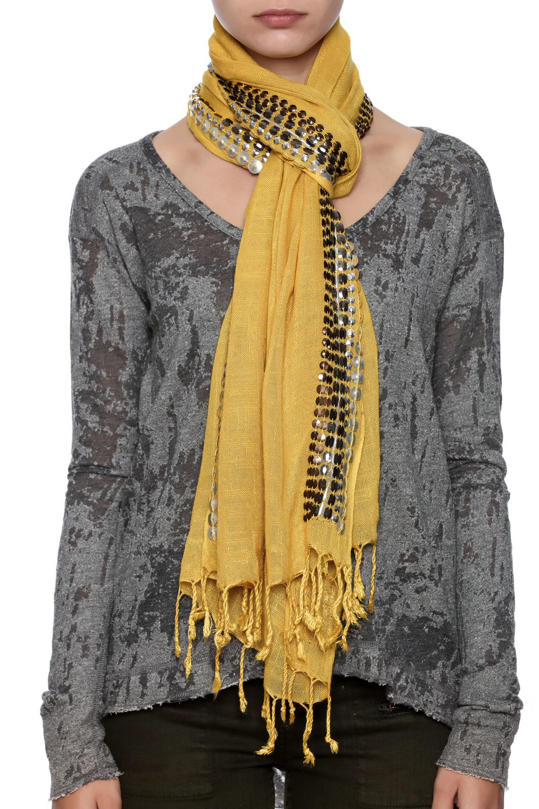 Kareena's Beaded Scarf - Back Cropped Image