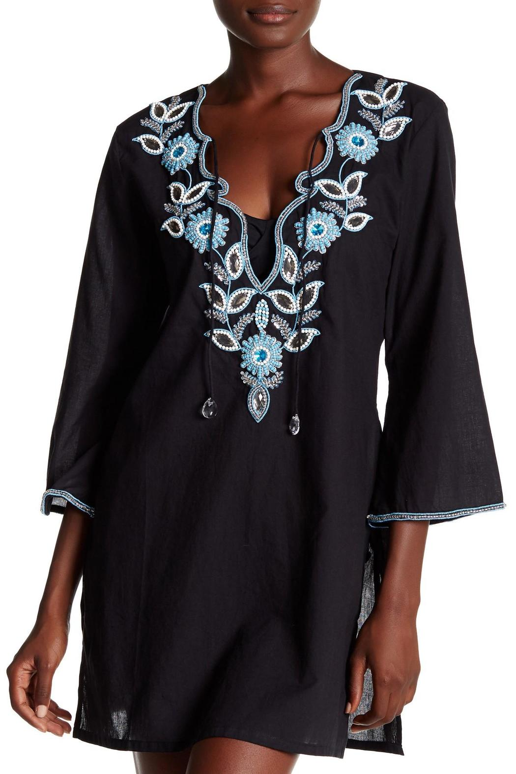 Kareena's Black Beaded Tunic - Main Image