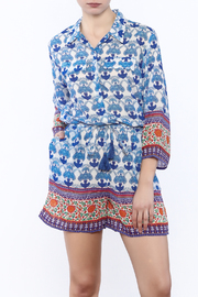 Kareena's Blue Print Romper - Product Mini Image