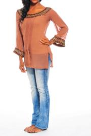 Kareena's Brown Embellished Top - Product Mini Image