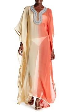 Kareena's Coral Ombre Kaftan Cover Up - Product List Image