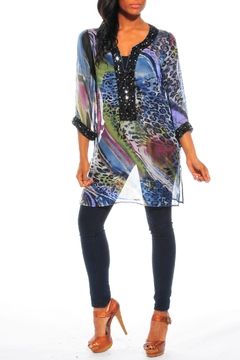 Shoptiques Product: Digital Print Embellished Top