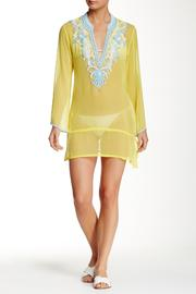 Kareena's Embellished Yellow Tunic - Front cropped