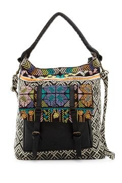 Shoptiques Product: Embroidered Buckle Bag