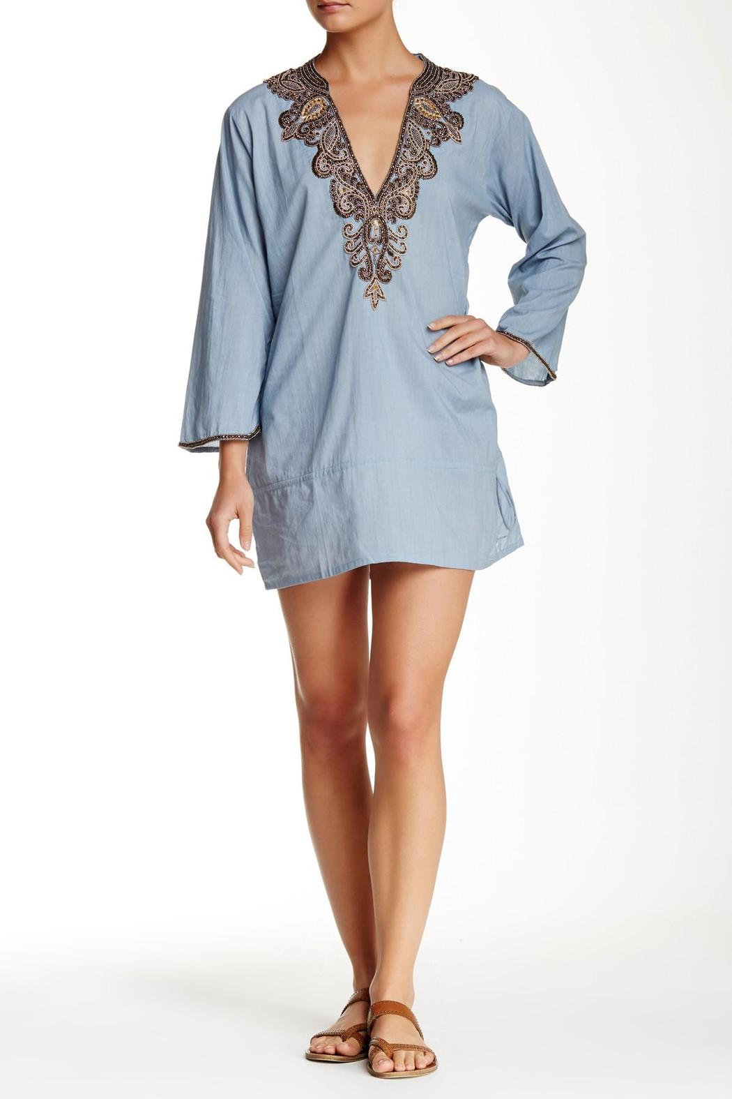 Kareena's Grey Embellished Tunic - Main Image