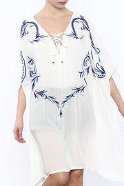 Kareena's Ivory With Blue Tunic - Product Mini Image