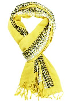 Shoptiques Product: Metal Beaded Scarf
