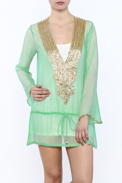 Kareena's Mint Embellished Tunic - Product List Image