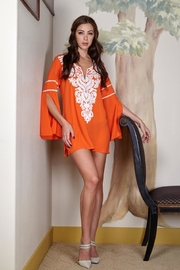 Kareena's Orange White Embroidered Tunic - Product Mini Image