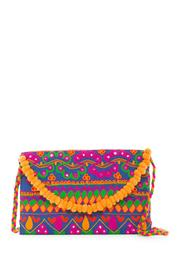 Kareena's Pompom Embroidery Clutch - Product Mini Image