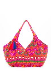 Kareena's Puffy Embroidery Tote - Front cropped