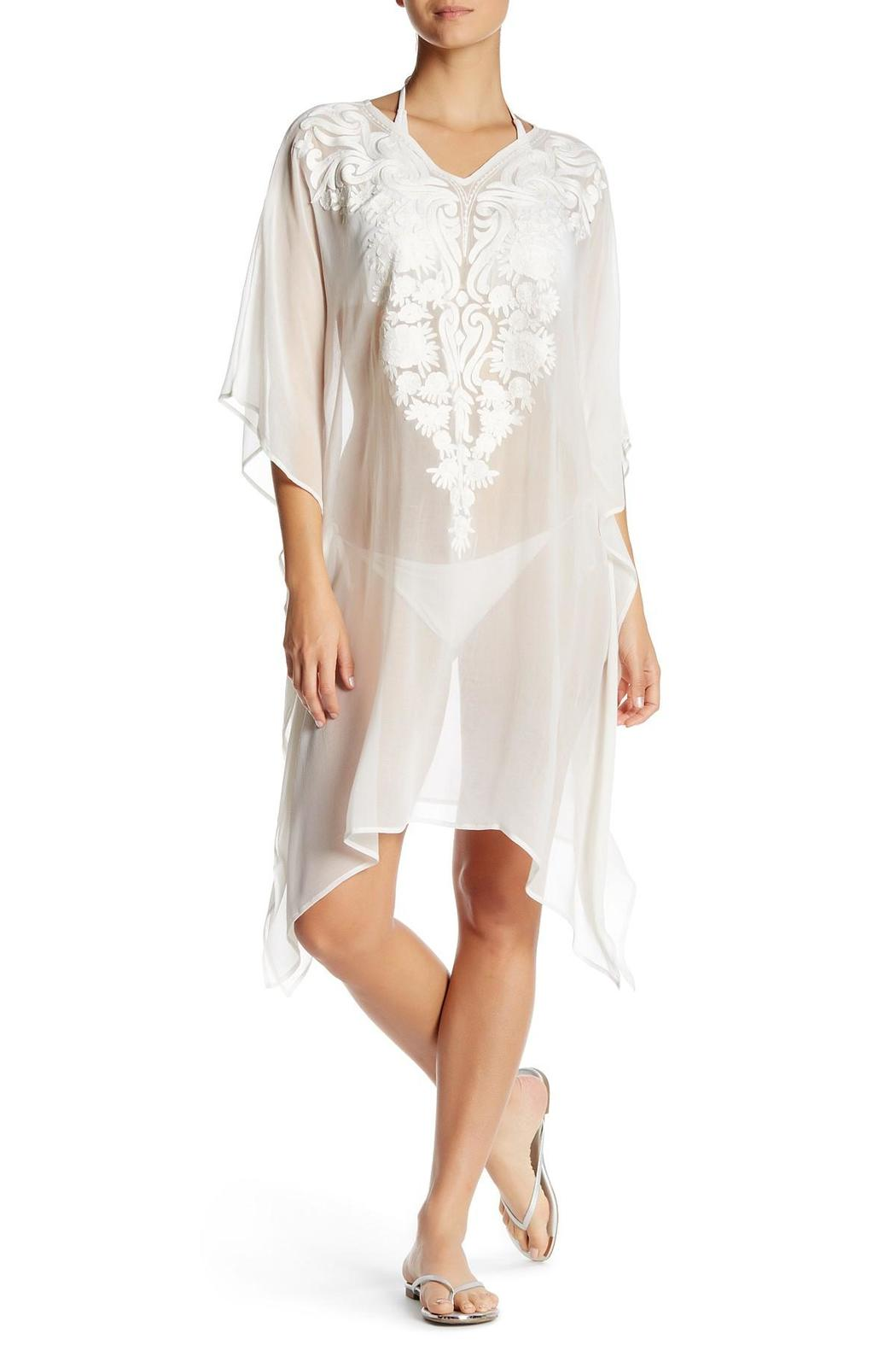 Kareena's White Embroidered Kaftan - Main Image