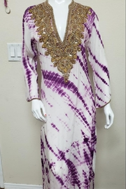 Kareena's White & Purple Dress - Front cropped