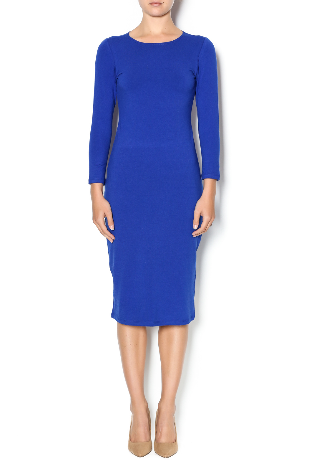 Karen Michelle Long Sleeve Sheath Dress - Front Cropped Image