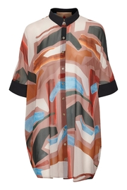 KAREN BY SIMONSEN Floaty Printed Blouse - Product Mini Image