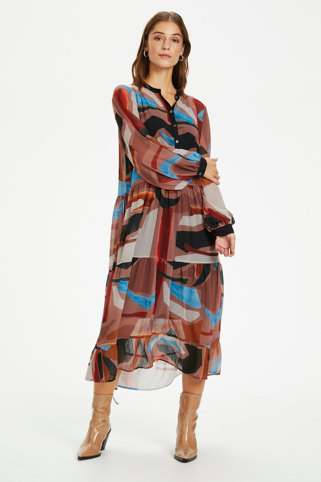 KAREN BY SIMONSEN Midi Printed Dress - Side Cropped Image