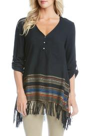 Karen Kane Black Fringe Tunic - Product Mini Image