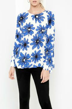 Shoptiques Product: Blue Daisy Handkerchief Top