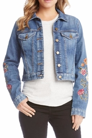 Karen Kane Embroidered Denim Jacket - Product Mini Image