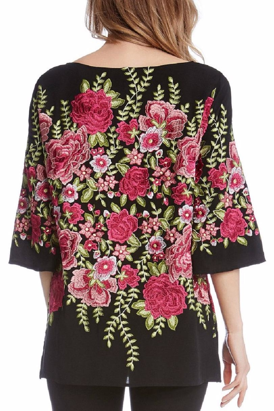 Karen Kane Embroidered Slit Tunic - Front Full Image