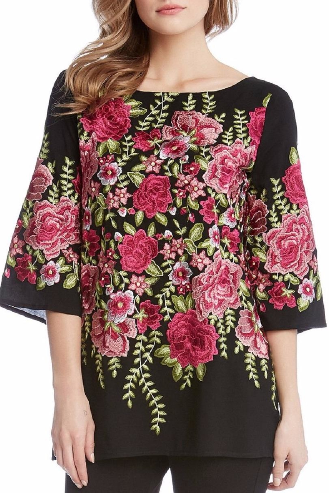 Karen Kane Embroidered Slit Tunic - Main Image