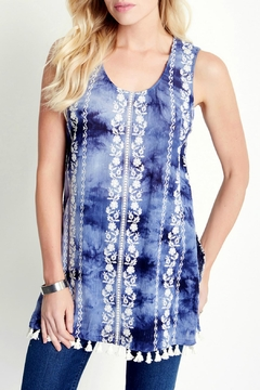 Shoptiques Product: Embroidered Tassel Tunic