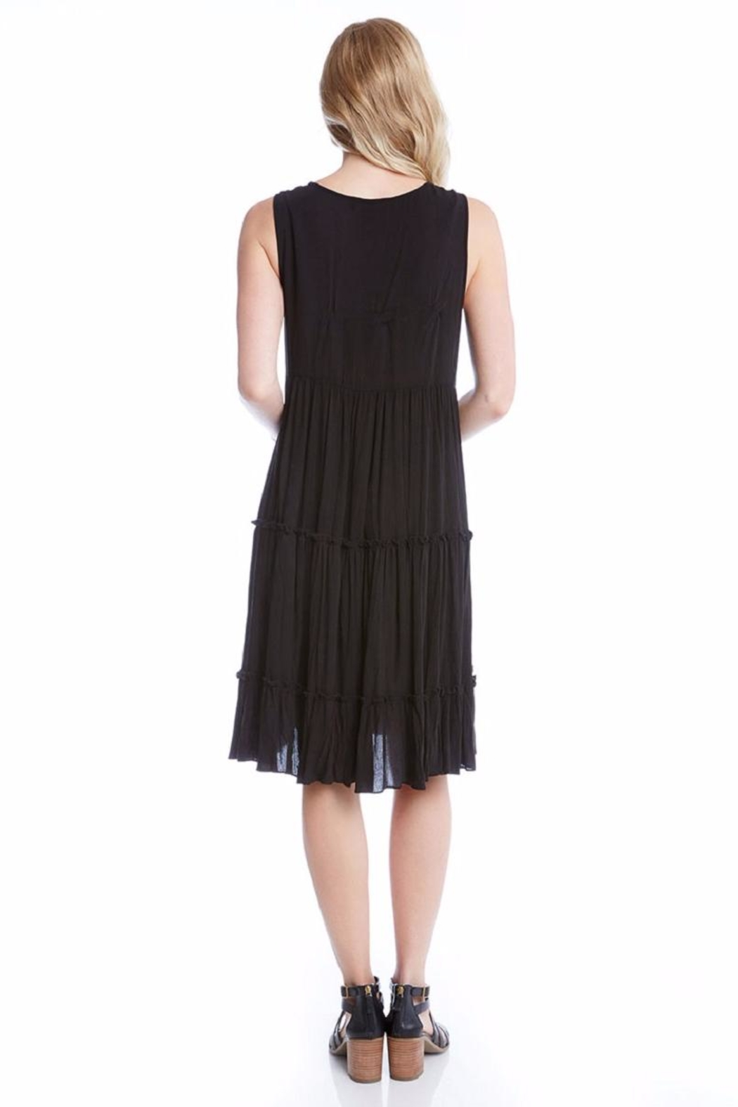 Karen Kane Embroidery Tiered Dress - Front Full Image