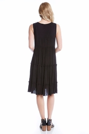 Karen Kane Embroidery Tiered Dress - Front full body