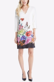Karen Kane Floral Border Dress - Front full body