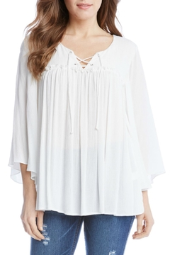 Shoptiques Product: Lace Up Bell Sleeve Top