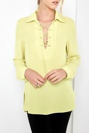 Karen Kane Lace Up Blouse - Product Mini Image