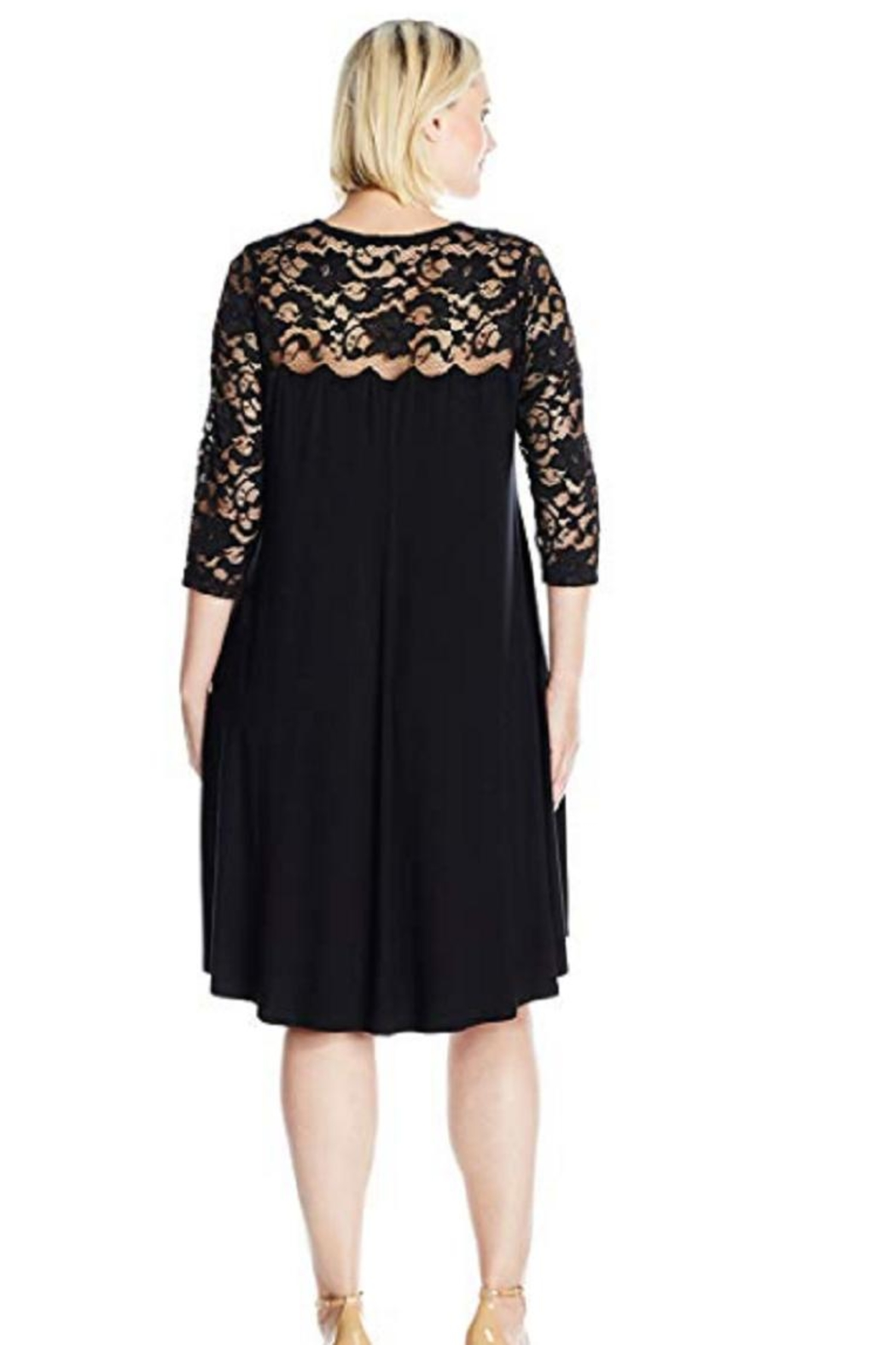 Karen Kane Laced Dress - Front Full Image