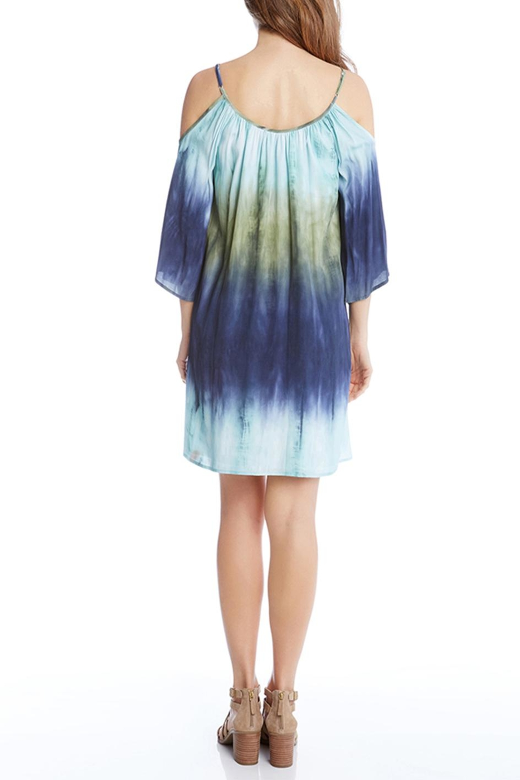 Karen Kane Cold Shoulder Ombre Dress - Front Full Image