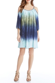 Karen Kane Cold Shoulder Ombre Dress - Front cropped